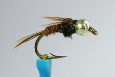 1x Mouche Nymphe Queue Faisan BILLE ARGENT H10/12/14/16/18/20 mosca fly nymph