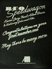 Reo Speedwagon Their First Number One Congrats Promo Ad