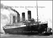 Photo: RMS Titanic Heads Out For Sea Trials, Belfast, April 2, 1912