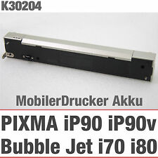 AKKU BATTERIE MOBILER DRUCKER PRINTER CANON PIXMA iP90 BUBBLE JET i70 i80 K30204