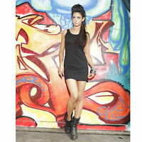 Ladies Long Vest Dress Tank Top Jersey Elastane Stretch Sleeveless Size 8 to 18