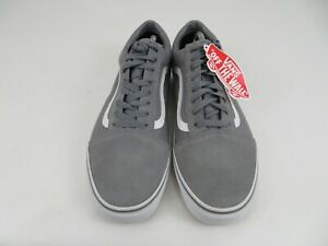Vans Gray Canvas Low Top Skateboard Skate Casual Shoes Mens Size 13, NEW