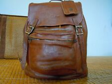 VTG L L BEAN brown  Leather back pack made in USA 5