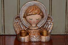 Christmas Angel Candle Holder Star Japan Gold Resin Closed Eyes Caroler Vintage