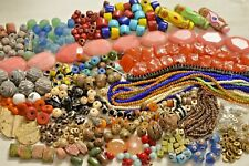 Large lot Authentic African & Indonesian Beads- Baule, Masi Glass, Copal- A2117c