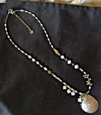 "Silpada ""Down to Earth"" Necklace N3118 18-20 in. Sterling Silver Pearl Was $99"