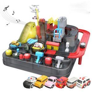 Car Adventure Game Rescue Squad Adventure Rail Model Racing Educational Toys