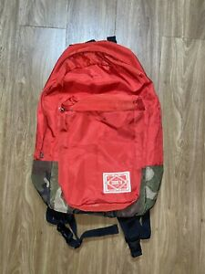 Vintage Obey Backpack Red Rare Distressed