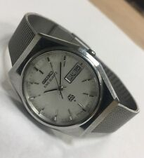 1979 Seiko King Twin Quartz 9923-7000 JDM Men's Stainless Steel Watch Running