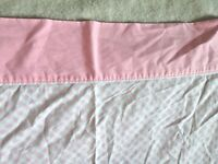 Monticello Muslin Twin Flat Sheet Pink Checked Gingham Glamping 70x92