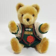 "Vintage Hermann Original Teddy Mohair 12"" Growler Bear Octoberfest Outfit"