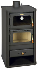 Wood Burning Stove with Oven Cooking Stove Log Burner 12 kw Prity FM FREE GIFT