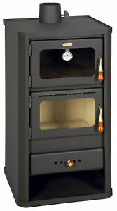 Cooking Wood Burning Stove with Oven Solid Fuel Cooker 12 kw Heating Prity FM