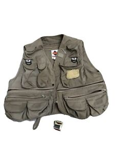Vtg Columbia Fishing/Hiking/Photography/Travel Vest Unisex Size LFlaws extras
