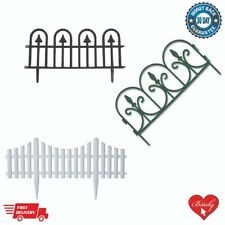 GARDEN FENCE SET PICKET FENCING DECORATIVE LAWN EDGING GRASS PATH BORDER EDGE