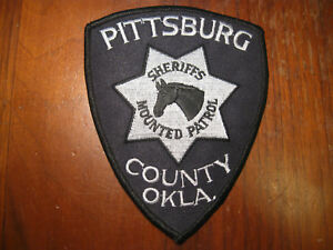PITTSBURG COUNTY OKLAHOMA SHERIFF MOUNTED POLICE PATCH