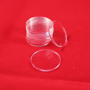 ROUND (CIRCLE) 13mm TRANSPARENT / CLEAR ACRYLIC BASES for Roleplay Miniatures