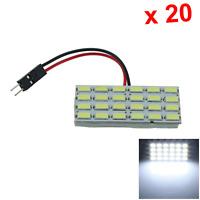 20x White Car Panel Reading Light Dome Blub 24 5630 SMD LED T10 festoon J210