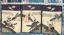 3 Antique Chinese Kesi Kossu Qing Dynasty Panel