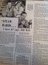L5-1 Ephemera 1953 Pictures Article Comedian Ted Ray Steam Radio I Love It