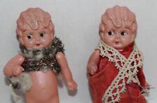 Two! Celluloid Kewpie Flapper Dolls Japan C1950