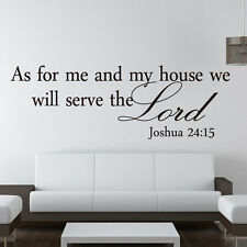 Christian As for me and my house we will serve the Lord Words Wall Stickers Home