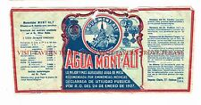 V3 1920s Spain Agua Mont-Alt Medicinal Mineral Water Label Stephens Collection