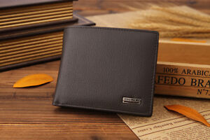 Original Cowhide Full Grain Leather Wallet Coin Bifold Genuine Leather Purse
