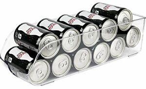 Beer Soda Can Holder Refrigerator Drink Organizer Storage 9 Capacity Clear New
