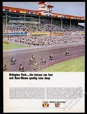 1965 Arlington Park horse race racetrack photo Rust-Oleum paint vintage print ad