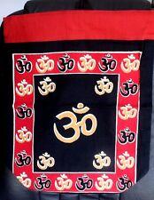 Lightweight Cotton Backpack Carry Shop Bag OM Symbol Sign Wicca New Age Hippie