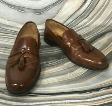 Johnston & Murphy Horner 15 1346 Brown Leather Tassel Loafer Shoes Mens 10.5