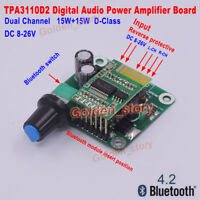 DC 12V-24V  Digital Stereo Bluetooth Dual Channel Audio Power Amplifier Board