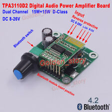 12V-24V Bluetooth4.2 Digital Stereo Dual Channel Audio Power Amplifier AMP Board