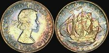 1967 GREAT BRITAIN HALF PENNY BU UNCIRCULATED COLOR TONED COIN IN HIGH GRADE