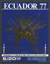 stamps-ecuador. 1977. CENTRAL BANQUE DE Équateur MINIATURE feuille Sg:ms1672.