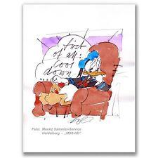 """Wolfgang Loesche """"First of all: Cool down"""", Donald. Original-Zeichnung!"""