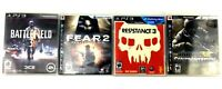 Lot of 4 Sony PS3 Video Games F.E.A.R 2 - Battlefield 3 - Resistance 3 & Socom
