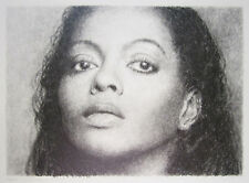 """KENT TWITCHELL Signed 1997 Original Drawing - """"Diana Ross"""""""