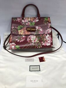 Authentic Gucci Medium Bamboo Daily Blooms Top Handle Bag