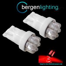 2X W5W T10 501 XENON ROSSO 7 DOME LUCE INTERNA DI CORTESIA A LED LAMPADINE HID