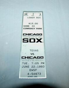 Carlton Fisk Last Game Played 6/22/1993 Ticket Stub Chicago White Sox HOF