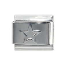 Outline Star Silver Coloured Italian Charm - fits 9mm Italian charm bracelets
