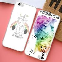 For iPhone X 8 7 6 Plus 5 4  Cute Cartoon Soft Silicone Phone Case Cover Back