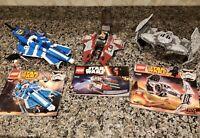Lego Star Wars Lot 75082 75087 75135 Fighter Ship Set