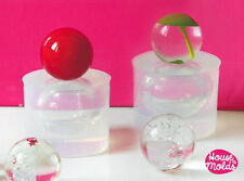 Clear silicone resin mold sphere spheres jewelry crafts ball earrings pendant