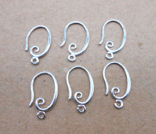10PCS DIY Making Jewelry Findings 925 Silver Plated Pinch Bale Hook Earwires