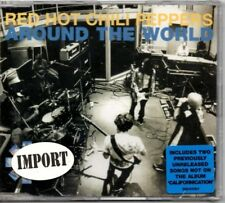 """RED HOT CHILI PEPPERS - """"AROUND THE WORLD""""   (IMPORT SINGLE W/ 2 NON LP TRACKS)"""