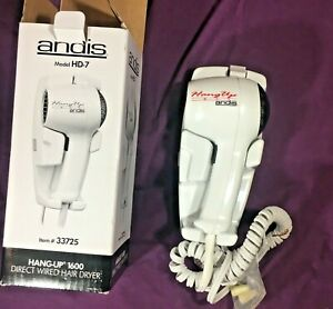 Andis Hang-Up Direct Wired Hair Dryer HD-7 #33725 NEW in box