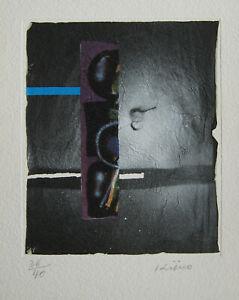 KIJNO LITHOGRAPHIE FROISSÉE+COLLAGE SIGNÉE CRAYON NUM/40 HANDSIGNED LITHOGRAPH